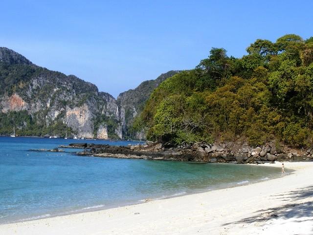 Praia bonita da Tailândia