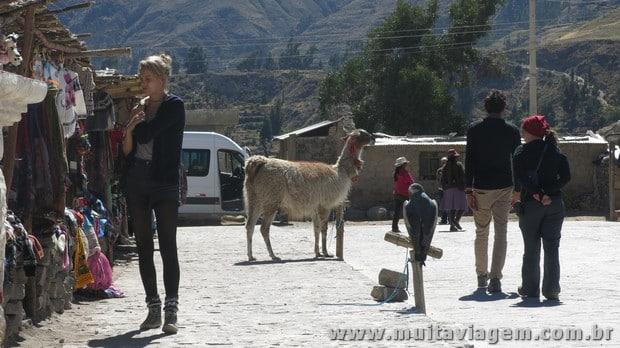 Uma das vilas em que paramos na viagem pelo Peru