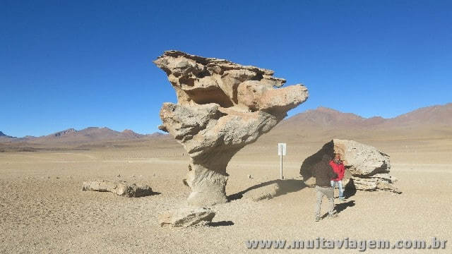 A Arlbol de Piedra, uma formação que lembra um árvore de pedra esculpida pelo vento