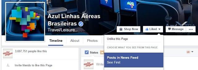Use o Facebook para encontrar passagens promocionais da Azul