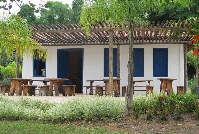 Casa Goiana típica da época, onde morava o bandeirante Bartolomeu.
