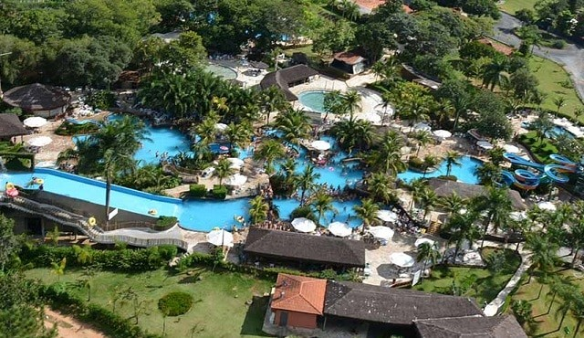 Foto aérea do Parque Lagoa Quente Termas Parque.