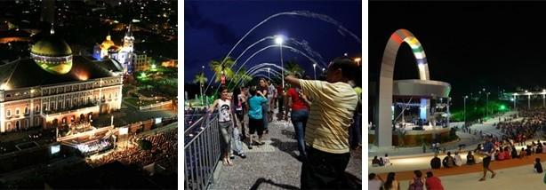 Aproveite a oportunidade de fazer um City Tour por Manaus à noite