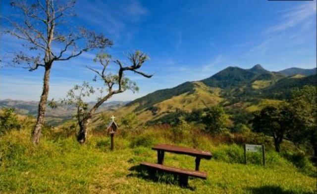 Vista para as montanhas da Serra da Mantiqueira, na Pousada.