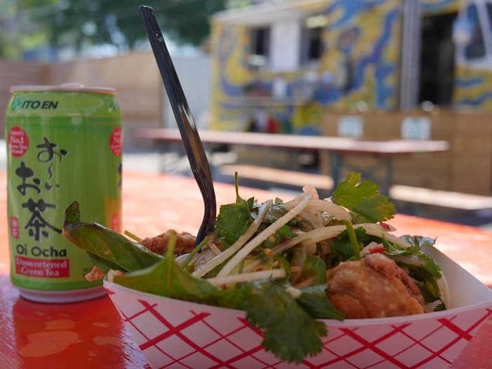 O food truck East Side King é um dos mais famosos de Austin.
