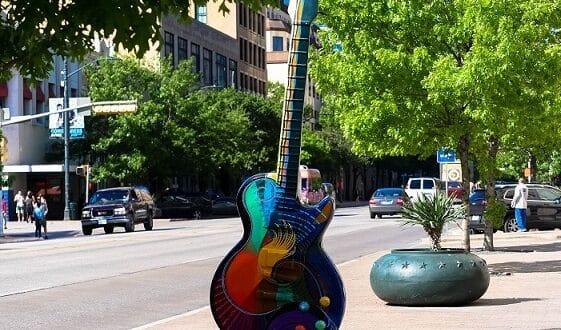 Guitarra em Austin