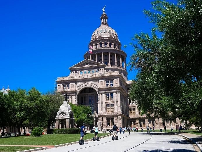 O edifício do Congresso, em Austin - Texas;