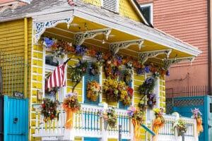 Casinhas coloridas no French Quarter