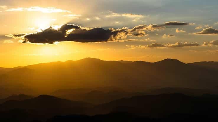 Pôr do Sol visto do Pico do Agudo, em Santo Antônio do Pinhal