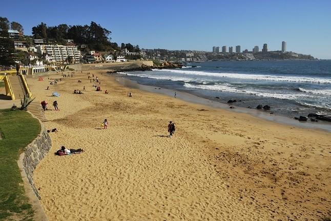 Playa Amarilla, na região de Valparaíso, Chile | Foto: Panoramio