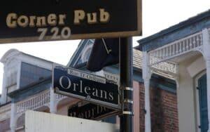 Ruas do quarteirão francês, em New Orleans