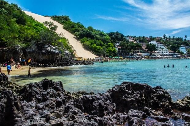 O final de Ponta Negra é o melhor lugar para fazer banho de mar